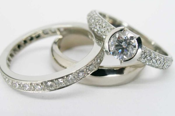 Wedding/Commitment/Eternity Ring Set