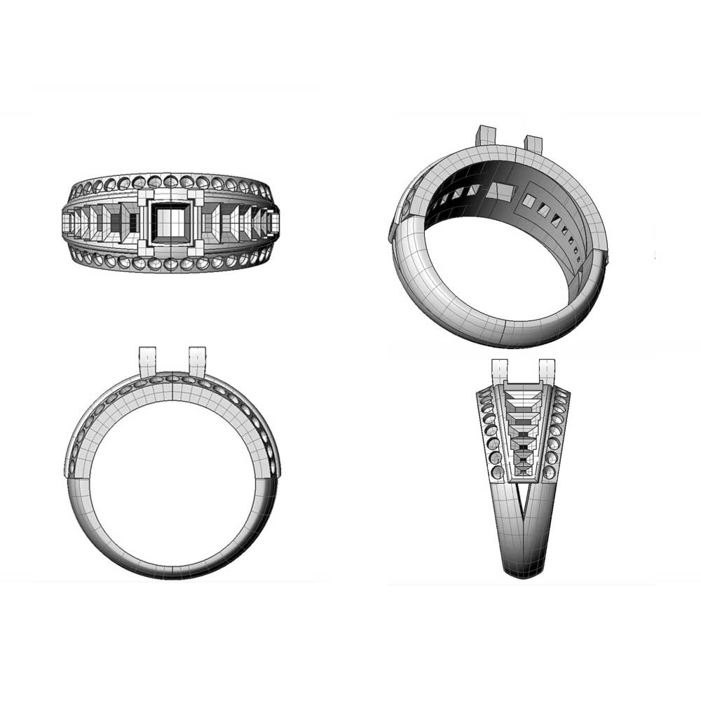 Bespoke 3D ring design