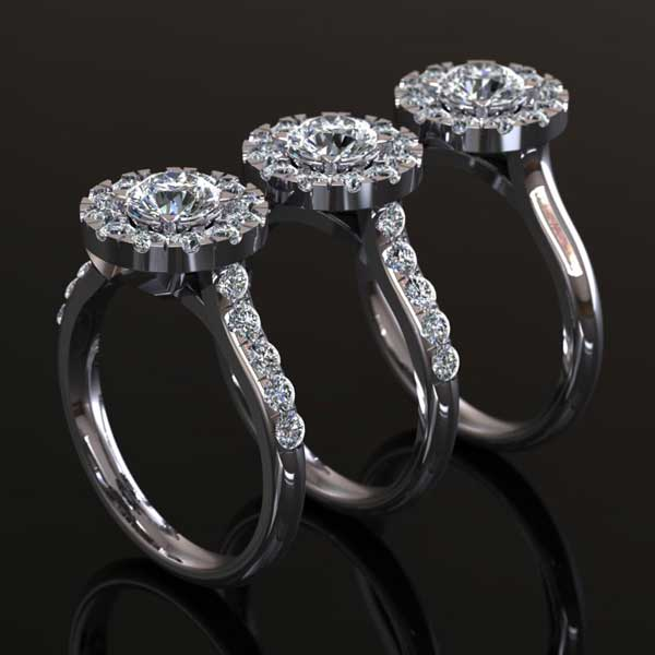 CAD 3D engagement ring designs