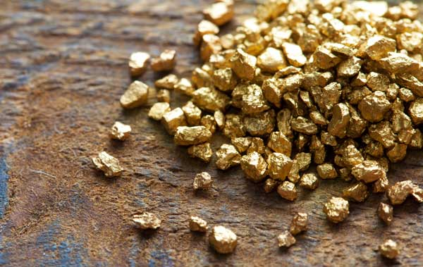 Fairtrade gold in grain form
