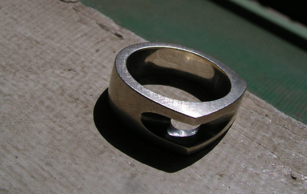 Groove Ring in silver