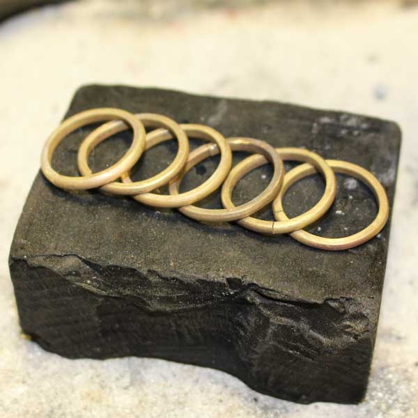 Concentric ring being made