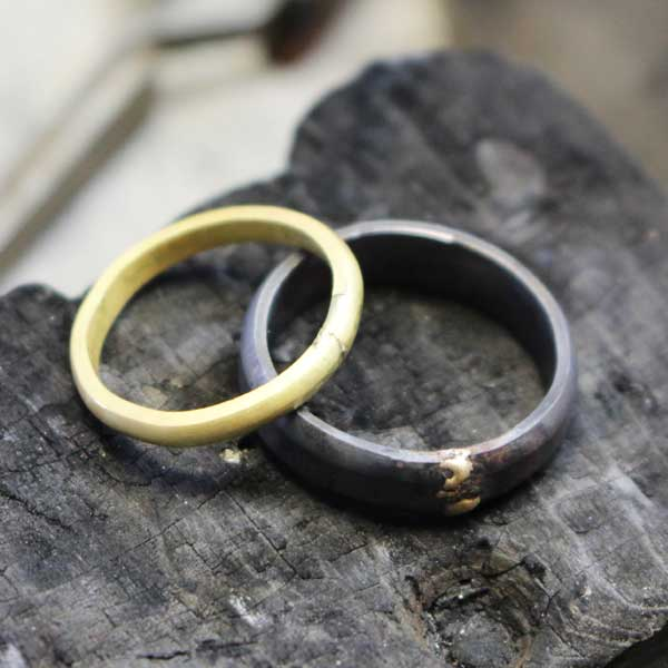 Wedding rings in making process
