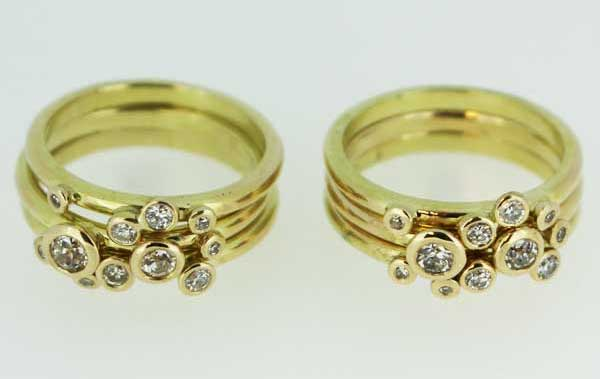 Recycled Concentric gold rings