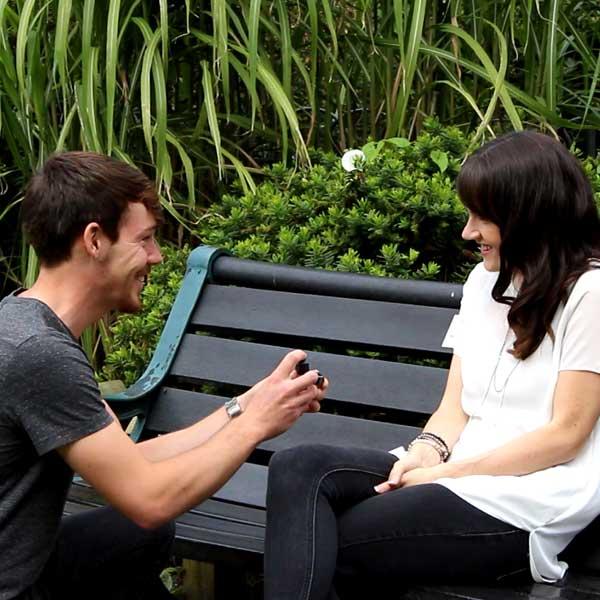 Surprise proposal in Brighton park.