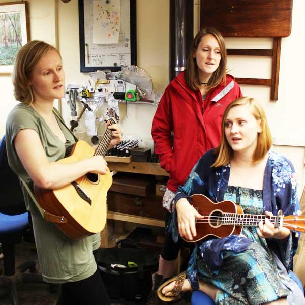 Tringham sisters singing at our workshop!