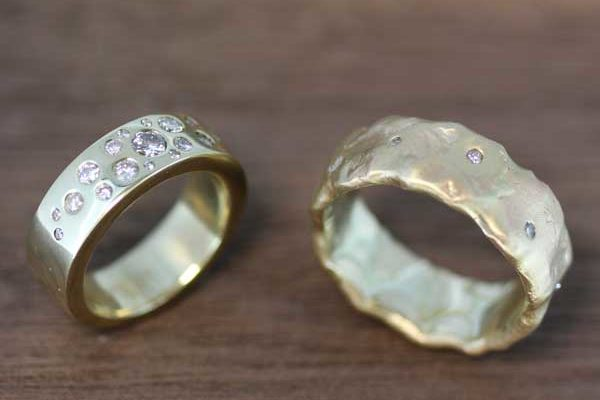 Bespoke wedding bands – remodelled from heirloom jewellery