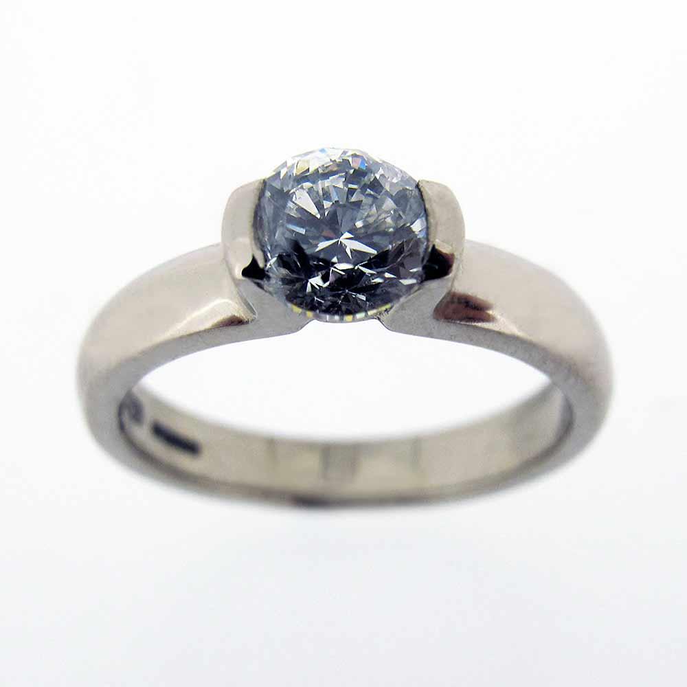 Permalink to Love Heart Diamond Engagement Ring