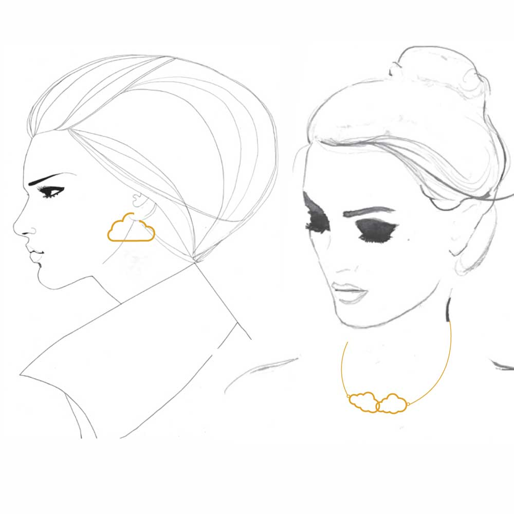Necklace and earring set sketch