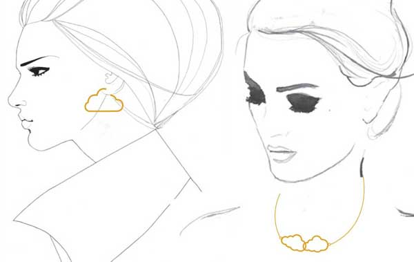 Bespoke jewellery sketch